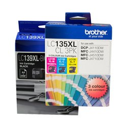 Brother LC139XL/LC135XL 4 Pack Bundle (Genuine)