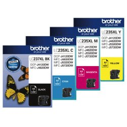 Brother LC237XL/LC235XL 4 Pack Bundle (Genuine)