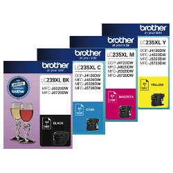 Brother LC239XL/LC235XL 4 Pack Bundle (Genuine)