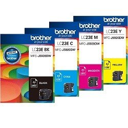 Brother LC23E 4 Pack Bundle (Genuine)
