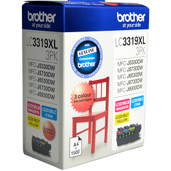 Brother LC3319XL 3 Pack Value Pack (Genuine)