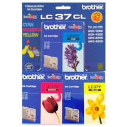 Brother LC37CL 3 Pack Bundle (Genuine)