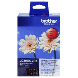 Brother LC39BK 2 Pack Bundle (Genuine)
