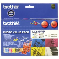 Brother LC57PVP 4 Pack Bundle (Genuine)