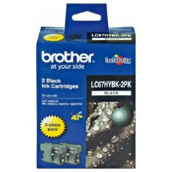 Brother LC67HYBK 2 Pack Bundle (Genuine)