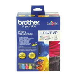Brother LC67PVP 4 Pack Bundle (Genuine)