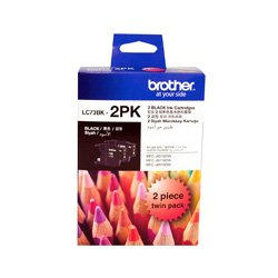 Brother LC73BK 2 Pack Bundle (Genuine)