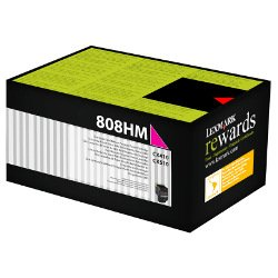 Lexmark 808H Magenta High Yield Prebate (80C8HM0) (Genuine)