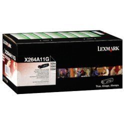 Lexmark X264A11G Black Prebate (Genuine)