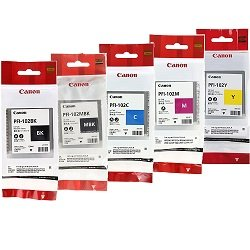 Canon PFI-102 5 Pack Bundle (Genuine)