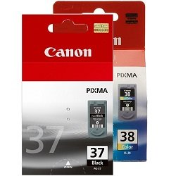 Canon PG-37/CL-38 2 Pack Bundle (Genuine)