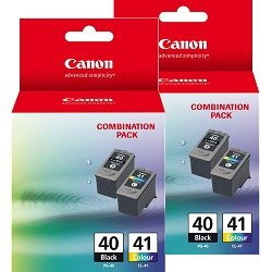Canon PG-40/CL-41 4 Pack Bundle (Genuine)