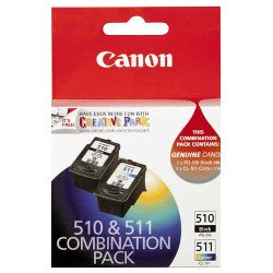 Canon PG-510/CL-511 2 Pack Bundle (Genuine)