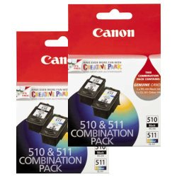 Canon PG-510/CL-511 4 Pack Bundle (Genuine)