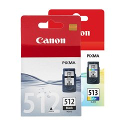 Canon PG-512/CL-513 2 Pack Bundle (Genuine)