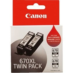 Canon PGI-670XLBK 2 Pack Value Pack (Genuine)