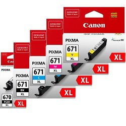 Canon PGI-670XL/CLI-671XL 5 Pack Bundle (Genuine)