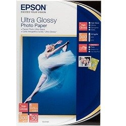 Epson S041943 White 4 x 6 inch Specialty Paper