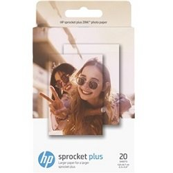 HP Sprocket Plus 20 White 2.3 x 3.4 inch Photo Paper (2LY73A)