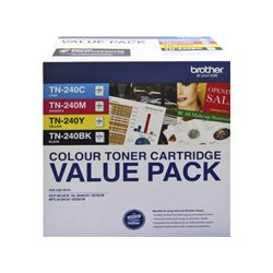Brother TN-240 4 Pack Bundle (Genuine)