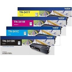 Brother TN-341 4 Pack Bundle (Genuine)