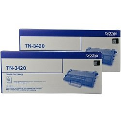 Brother TN-3420 2 Pack Bundle (Genuine)
