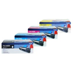 Brother TN-348 4 Pack Bundle (Genuine)