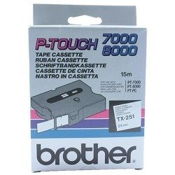 Brother TX-251 Black on White (Genuine)