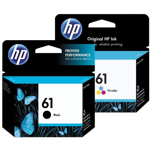 HP 61 2 Pack Bundle (Genuine) title=