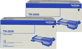 Brother 2-Pack TN-2030 Bundle Toner Cartridge Genuine