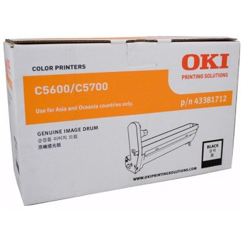 Oki 43381712 Black Drum Unit title=