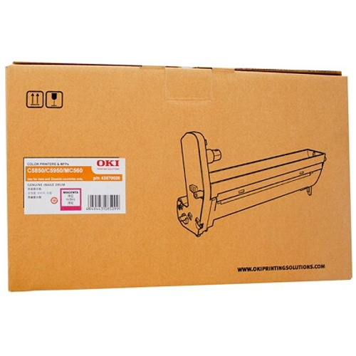 Oki 43870026 Magenta Drum Unit title=