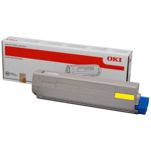 Oki 44844525 Yellow Toner Cartridge Genuine