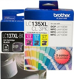 Brother 8-Pack LC137XL/LC135XL Bundle Ink Cartridge Genuine