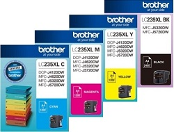 Brother 4-Pack LC239XL/LC235XL Bundle Ink Cartridge Genuine