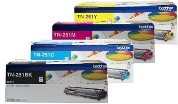 Brother TN-251 4 Pack Bundle (Genuine) title=