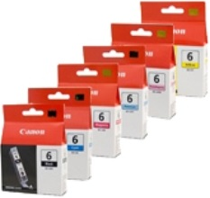 Canon 6-Pack BCI-6 Bundle Ink Cartridge Genuine