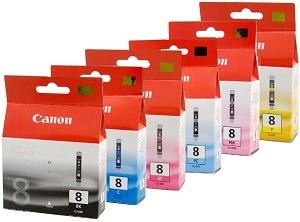 Canon 6-Pack CLI-8 Bundle Ink Cartridge Genuine
