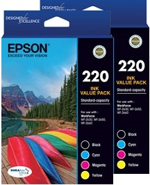 Epson 8-Pack 220 Bundle Ink Cartridge Genuine
