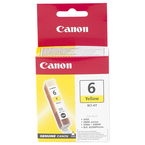Canon BCI-6Y Yellow (Genuine) title=