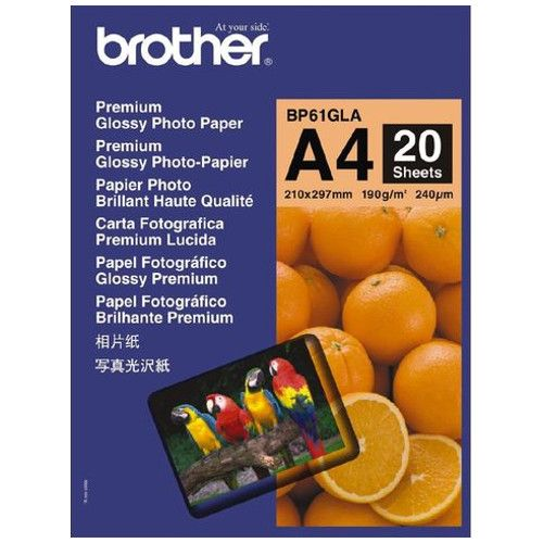 Brother BP61GLA A4 Premium Glossy Photo Paper title=