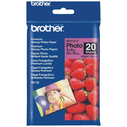 Brother BP61GLP White 4 x 6 inch Specialty Paper