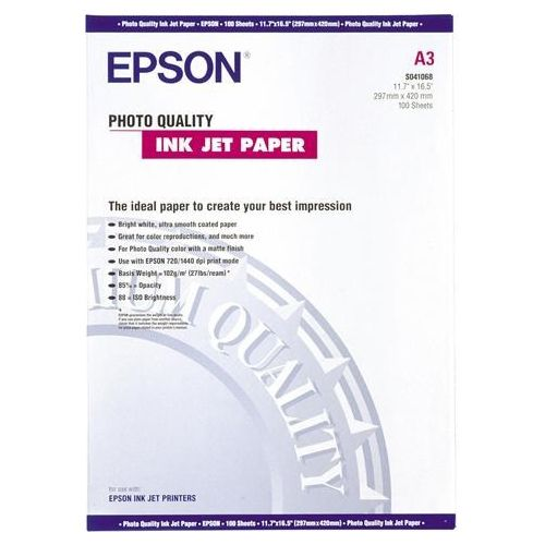 Epson S041068 A3 Photo Quality Paper