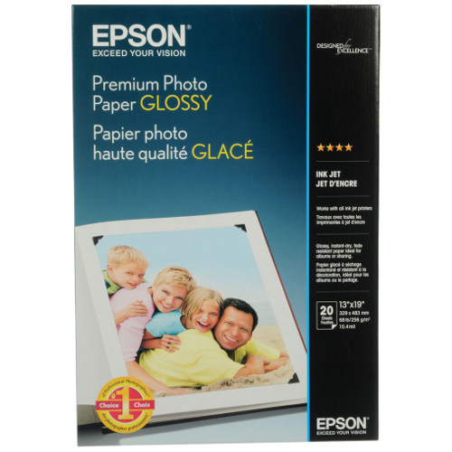 Epson S041289 A3+ Premium Glossy Photo Paper title=