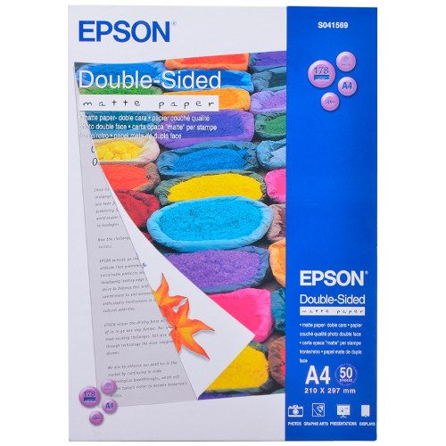 Epson S041569 A4 Double Sided Matte Paper title=