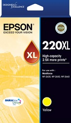 Epson 220XL Yellow Ink Cartridge Genuine (C13T294492)
