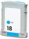 Compatible 18 Cyan Ink Cartridge (C4937A)