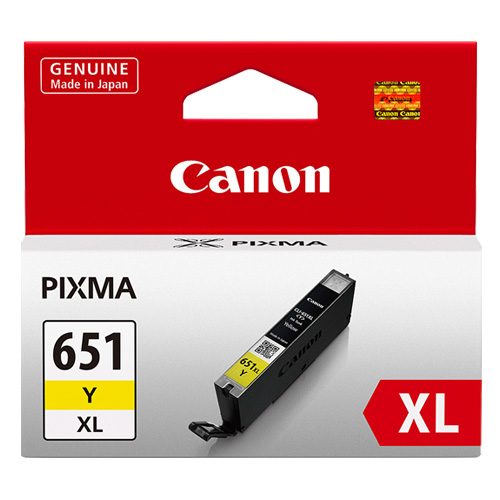 Canon CLI-651XLY Yellow High Yield (Genuine) title=