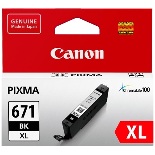 Canon CLI-671XLBK Black High Yield (Genuine) title=