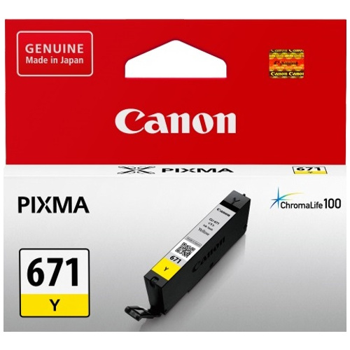 Canon CLI-671Y Yellow Ink Cartridge Genuine